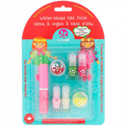 SuncoatGirl, Lip Gloss, Nail Sparkle Kit, 7 Piece Set