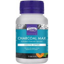 Wonder Foods Charcoal Max (Activated Charcoal) 60vc