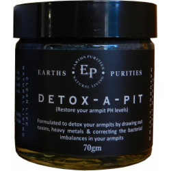 Earths Purities Detox-A-Pit 70g *** Available mid Feb 2021***