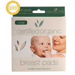 Nature's Child Reusable Breast Pads Organic Night/ Large 6pk